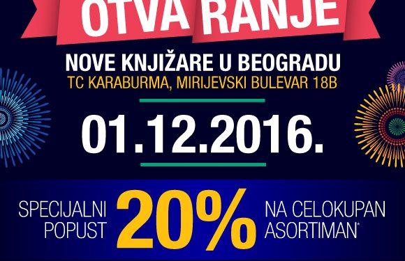 Pozivamo vas na otvaranje nove knjizare u Begradu